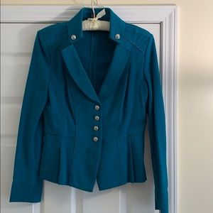 Teal short fashion jacket